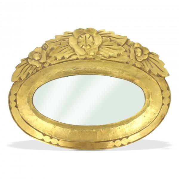 Spiegel oval, gold, L 26,5 cm, B 35,5 cm