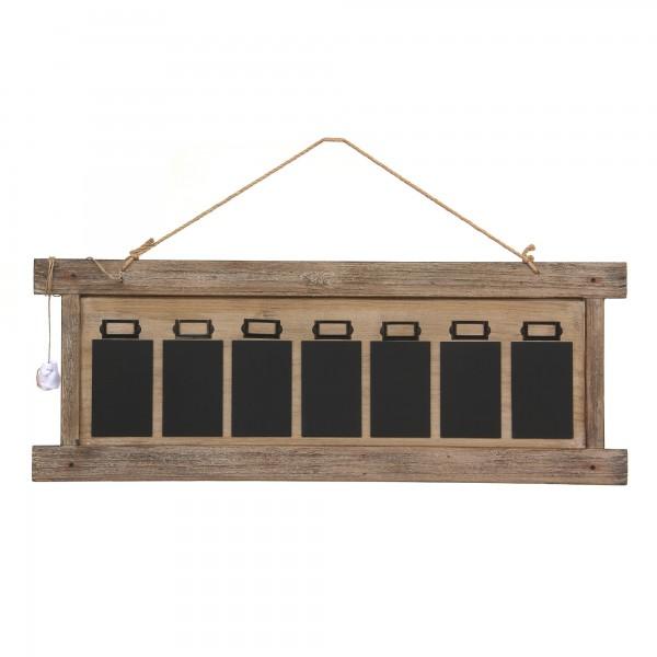7er Wandtafel, braun, schwarz, T 2cm, B 98cm, H 37cm
