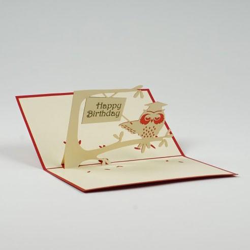 """Handgefertigte Popup Grußkarte """"Geburtstag"""", inklusive Umschlag, L 15 cm, B 10 cm"""