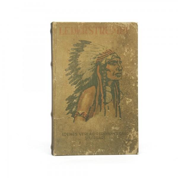 Buchhülle 'Lederstrumpf' mit Schließfach, T 5 cm, B 16 cm, H 24 cm