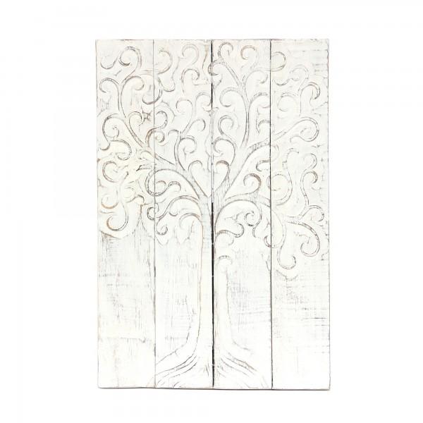 Panel 'Baum des Lebens', weiß, T 3 cm, B 40 cm, H 60 cm
