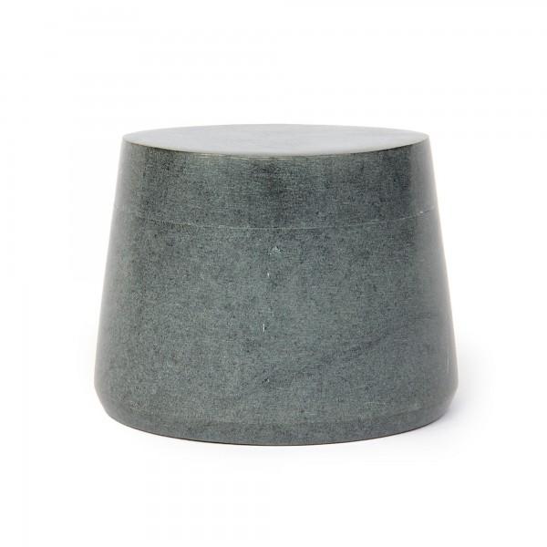 Box grauer Speckstein, grau, Ø 10 cm, H 8 cm