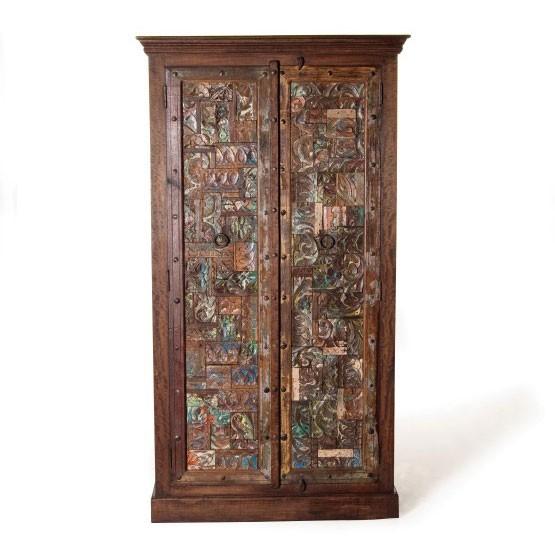 Schrank 'Cumbria' aus recyceltem Holz, L 45 cm, B 103 cm, H 188 cm