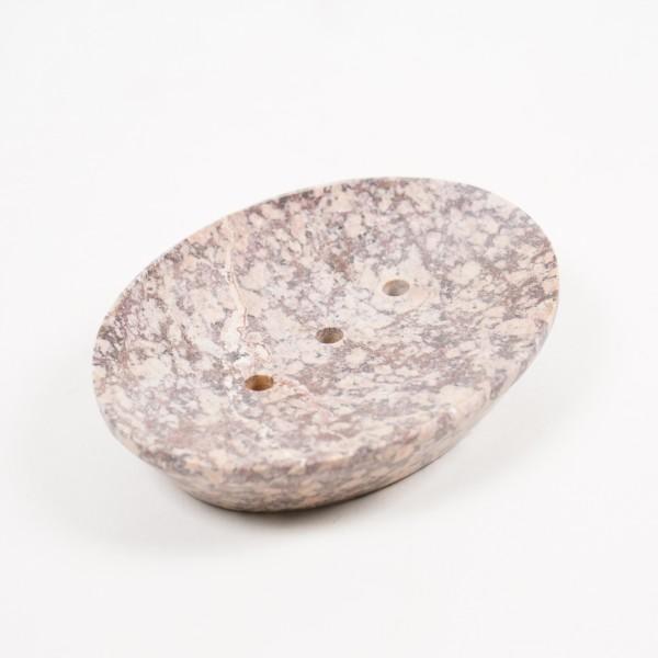 Seifenschale aus Speckstein, L 10 cm, B 13 cm, H 2,5 cm