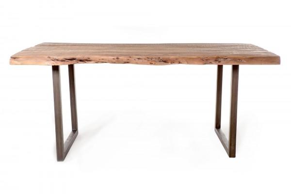 Tisch 'Adano', natur, schwarz, T ~95 cm, B 190 cm, H 77 cm