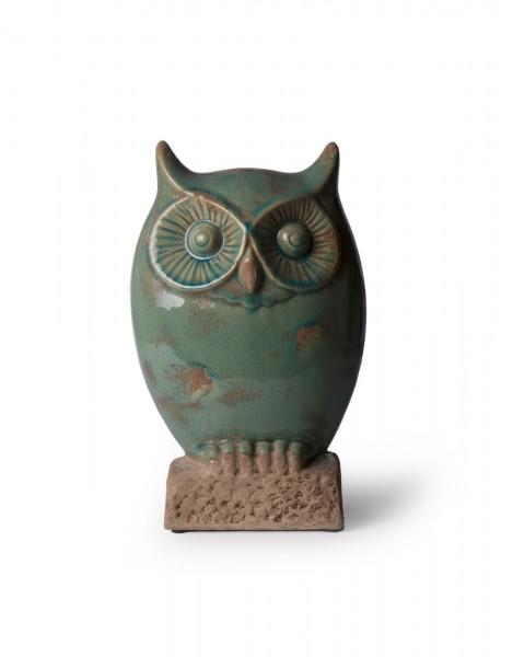 Keramikeule, grün, B19 cm, H 30 cm