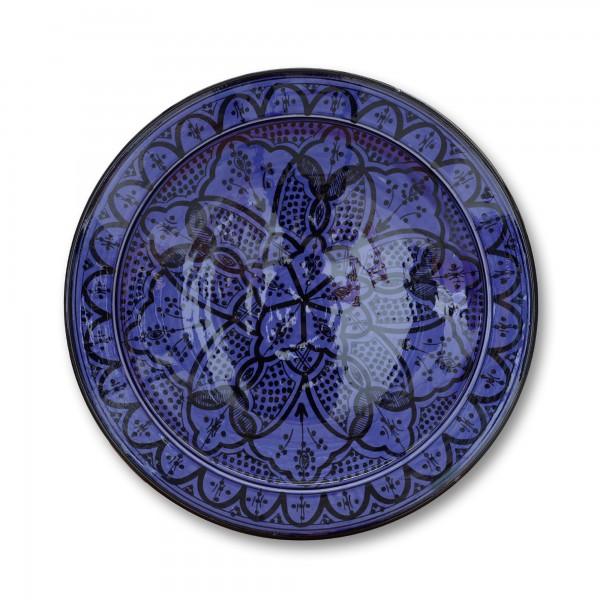 Zierschale, blau, Ø 40 cm, H 9 cm