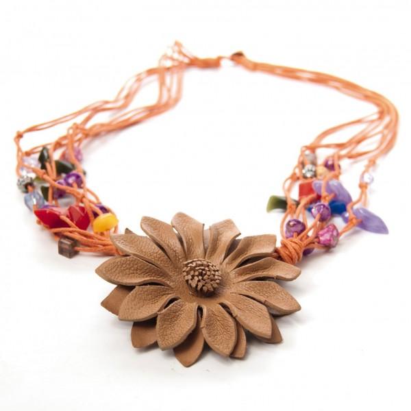 """Halskette """"Blume"""", beige"""