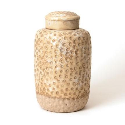 "Deckelgefäß ""Vase Trous groß"", Ø 18 cm, H 31 cm"