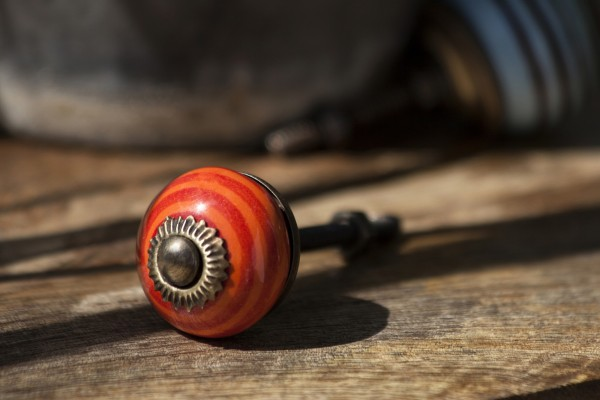 Türknauf rund, orange, rot, Ø 3 cm