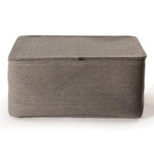 Aufbewahrungskorb mit Deckel klein, grau, L 16 cm, B 24 cm, H 13 cm
