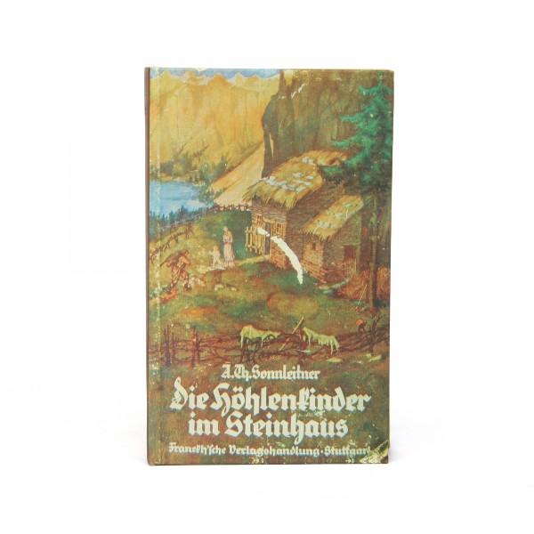 Buchhülle 'Die Höhlenkinder', T 4 cm, B 13 cm, H 20 cm