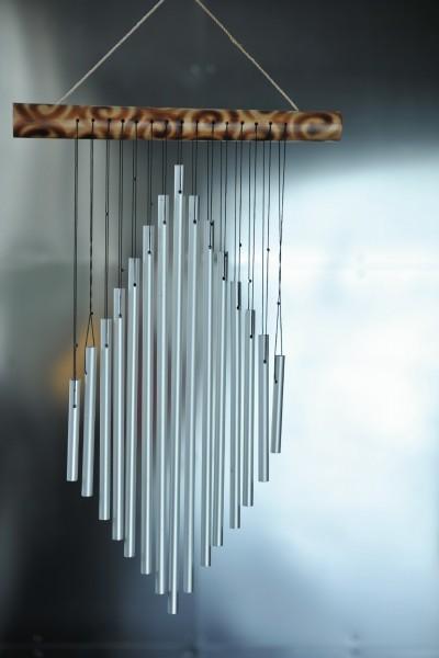 Windspiel 'Karo', aus Bambus, B 26 cm, H 36 cm