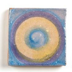 Handglasierte Kachel 'Rond', L 5 cm, B 5 cm