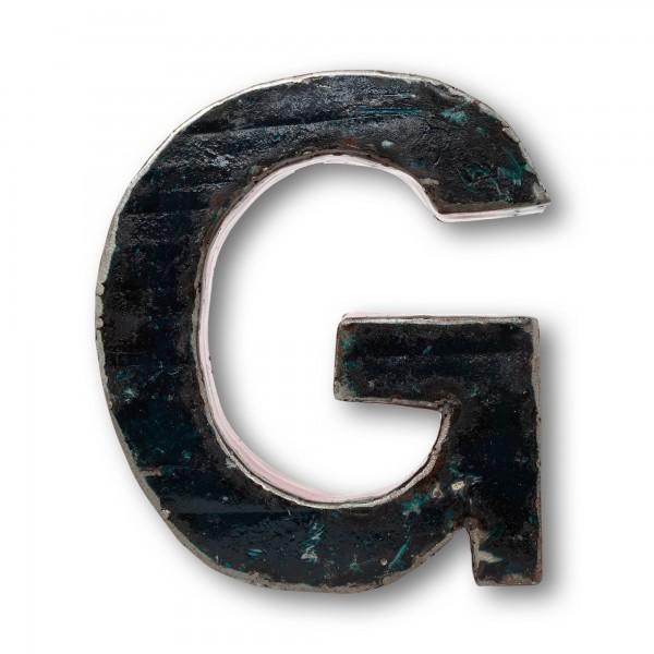 Metallbuchstabe 'G', T 4 cm, B 21 cm, H 18