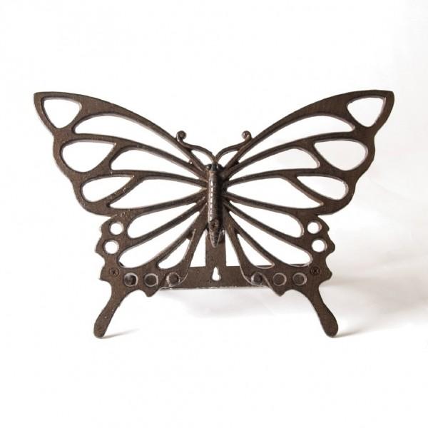 """Wasserschlauchhalterung """"Schmetterling"""", antik-rost, L 32 cm, B 14 cm, H 22 cm"""