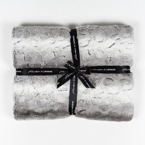 """Decke """"Wolke"""", weiß/grau, L 200 cm, B 150 cm"""