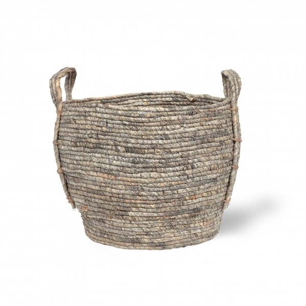 Korb 'Gamba' M, grau, natur, Ø 30 cm, H 25 cm