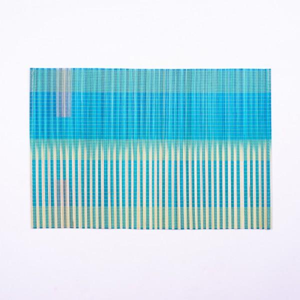 Tischset aus Bambus, blau, grün, L 33 cm, B 48 cm