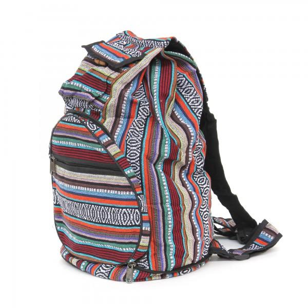 Rucksack, faltbar, dunkelrot, schwarz, B 25 cm, H 25 cm