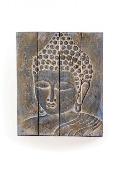 Buddha-Panel, grau, T 60 cm, B 70 cm, H 4 cm