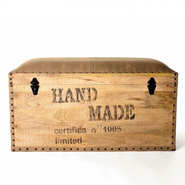 Holztruhe 'Nidhi', braun, L 45 cm, B 90 cm, H 50 cm