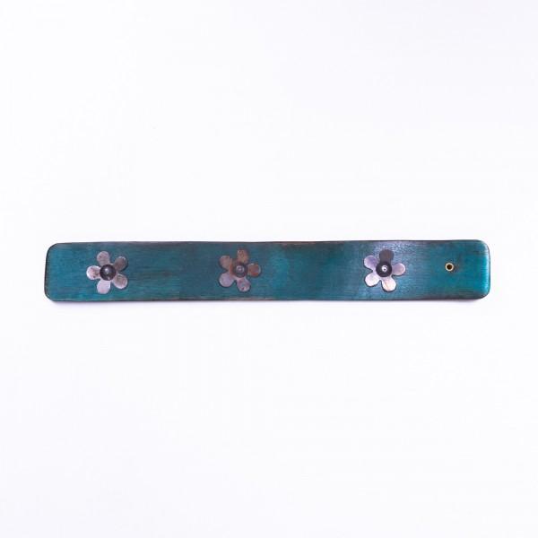 Räucherstäbchenhalter, türkis, L 25 cm, B 4 cm