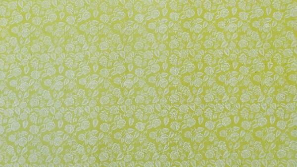 Geschenkpapier Blumen, grün, T 82 cm, B 56 cm