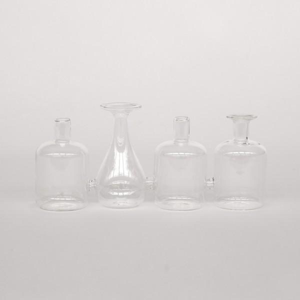 4er Blumenvase 'Horsholm', klar, T 23 cm, B 6 cm, H 9 cm