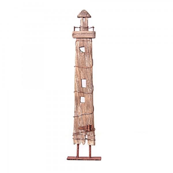Leuchtturm, mit Standfuß, L 3 cm, B 8 cm, H 40 cm