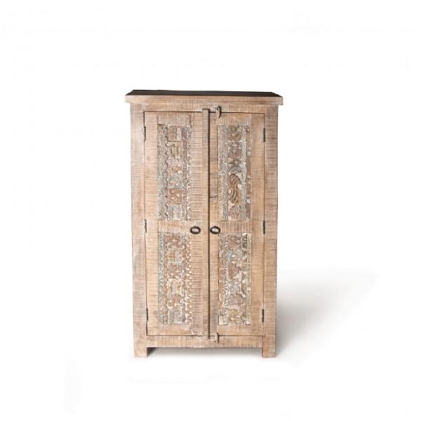 Schrank 'Sharina', aus Mangoholz, braun, T 40 cm, B 72 cm, H 135 cm