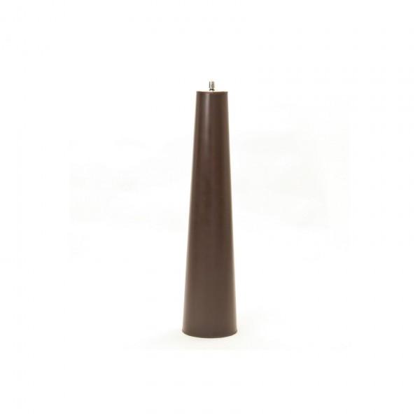 Kupferfackel mit Edelstahlaufsatz, antik-braun, H 87 cm, Ø 20 cm
