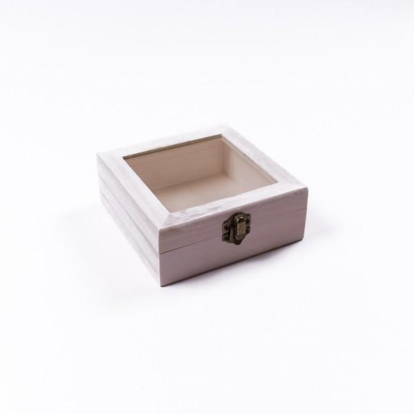 """Holzbox """"Baxian antique"""" mit Deckel, natur, L 13,5 cm, B 13,5 cm, H 5,5 cm"""