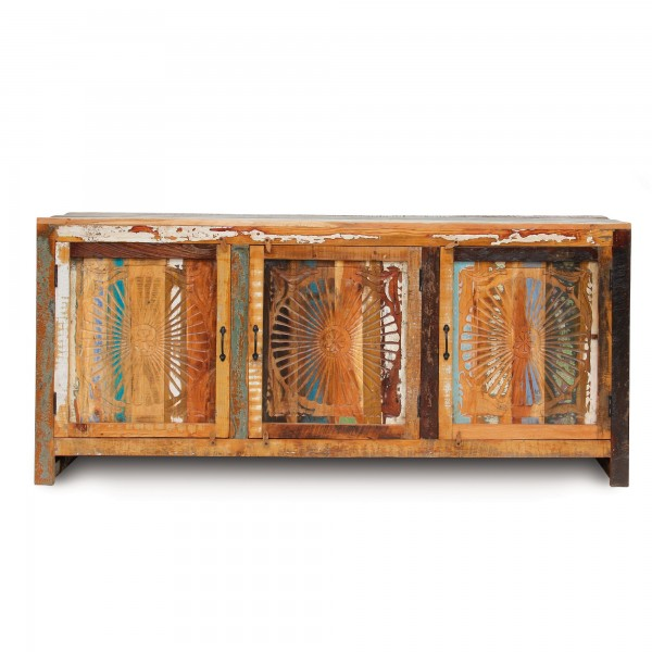 Sideboard 'Sune', natur, Restfarbe, T 45 cm, B 205 cm, H 90 cm
