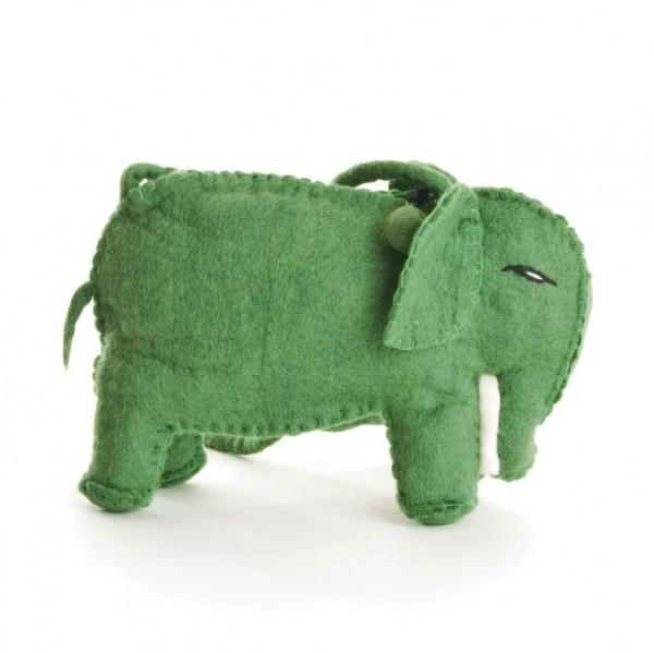 """Filztasche """"Elefant"""", grün, B 28 cm, H 15 cm"""