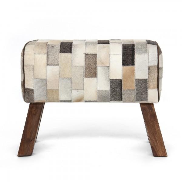 Sitzbock 'Tache', weiß, braun, schwarz, T 29 cm, B 69 cm, H 53 cm
