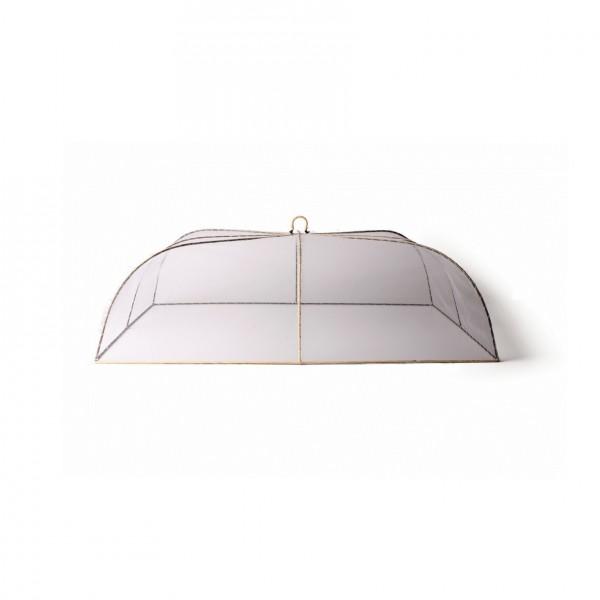 rechteckige Abdeckhaube L, natur/weiß, L 60 cm, B 40 cm, H 19 cm
