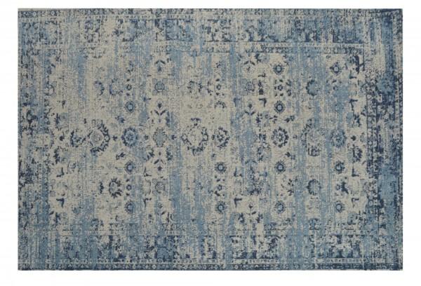 Teppich 'Yuva', cremeweiß, blautöne, T 170 cm, B 240 cm