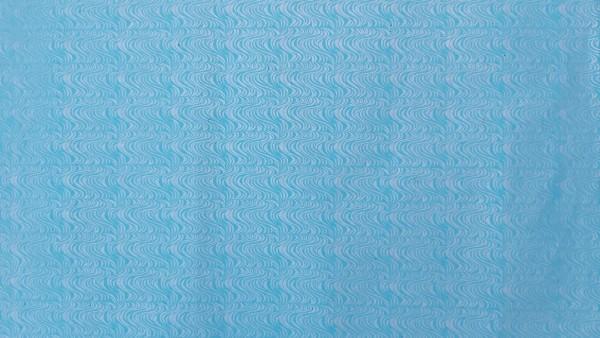 Geschenkpapier 'Wellen', silber, blau, T 76 cm, B 51 cm