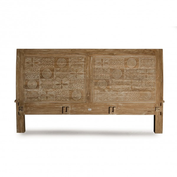 Bettrahmen 'Toraja' aus Teakholz, braun/gekälkt, B 180 cm, L 200 cm, H 110 cm