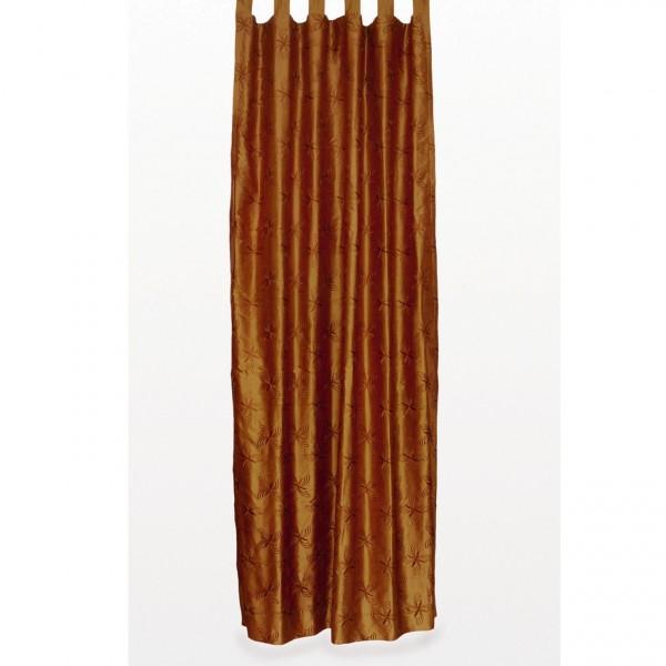 Seidenvorhang mit Schlaufe, braun, L 240 cm, B 130 cm