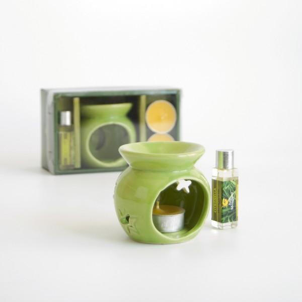 """Öl-Lampe """"Citronella"""", zur Mückenabwehr geeignet, grün/gelb"""