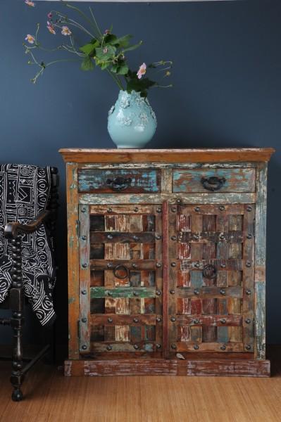 "Sideboard ""Telford"" aus receyceltem Holz, L 46 cm, B 99 cm, H 107 cm"