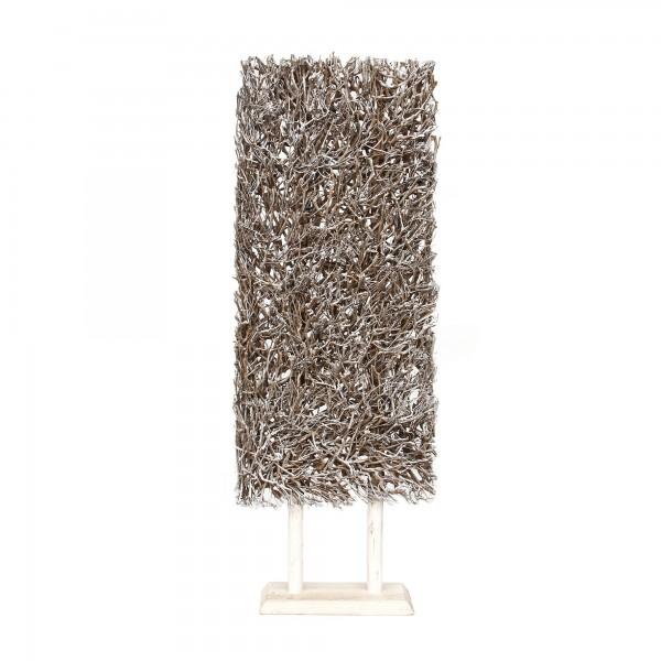 Teepflanzen-Objekt auf Ständer, weiß, T 22 cm, B 60 cm, H 170 cm