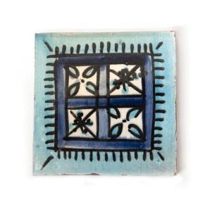 """Fliese """"fenetre bleue"""", blau, L 10 cm, B 10 cm, H 1 cm"""