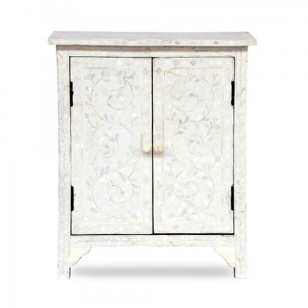 Schränkchen 'Pilar', 2 Türen, weiß, T 33 cm, B 65 cm, H 76 cm