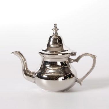 Neue Teekanne, marokkanisch, silber, Ø 8,5 cm, H 13 cm