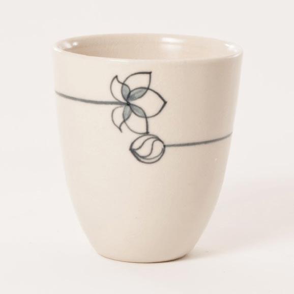 """Teebecher """"Lotus"""", beige, H 9,5 cm, Ø 8,5 cm"""