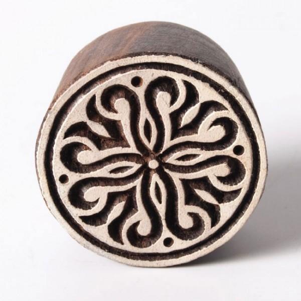 Traditioneller Holzstempel 'Modell G', handgeschnitzt