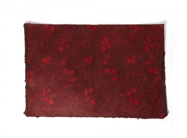 Geschenkpapier 'Blumen rot', handgeschöpft, L 51 cm, B 76 cm